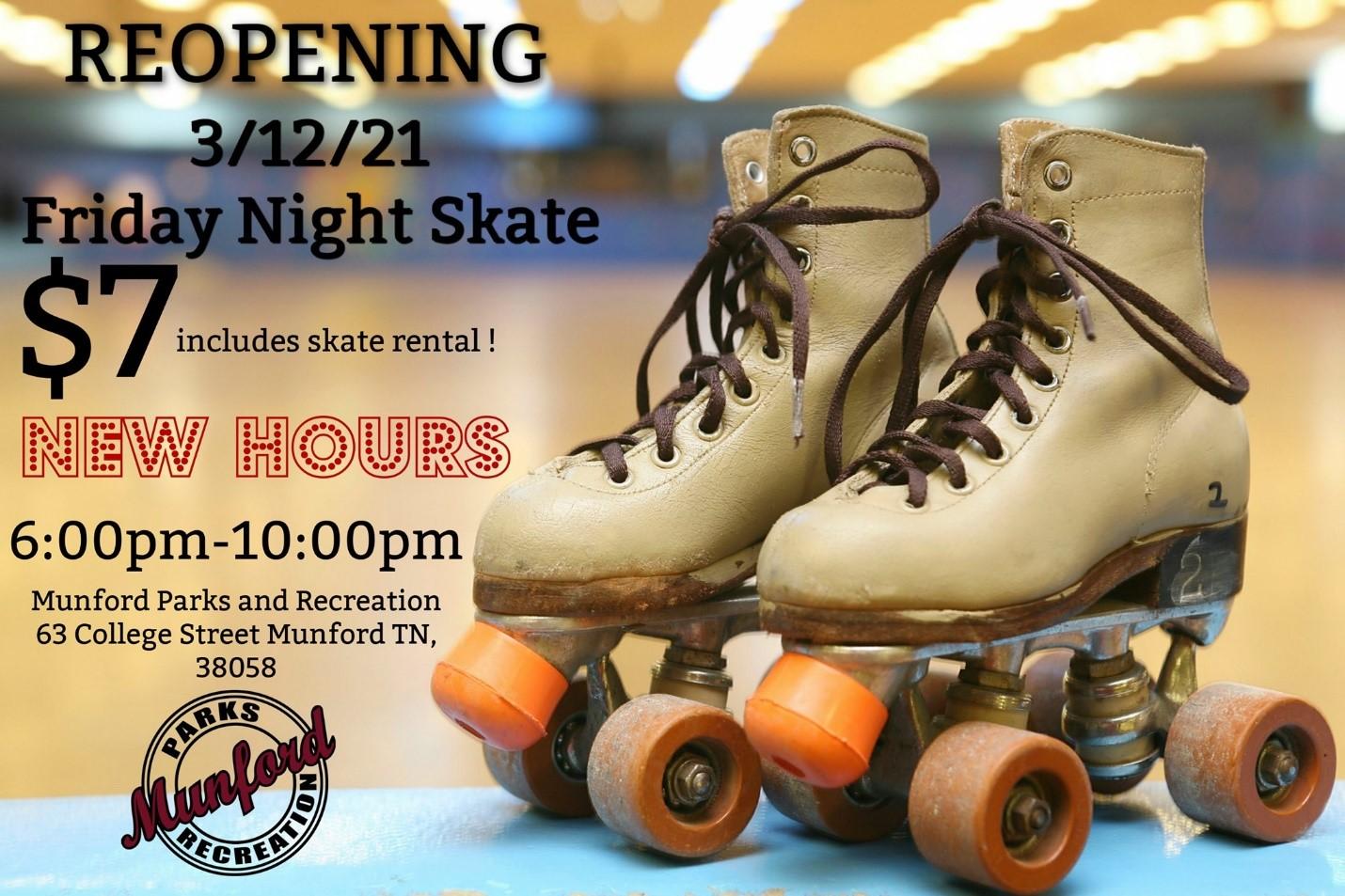 Re-opening skating rink