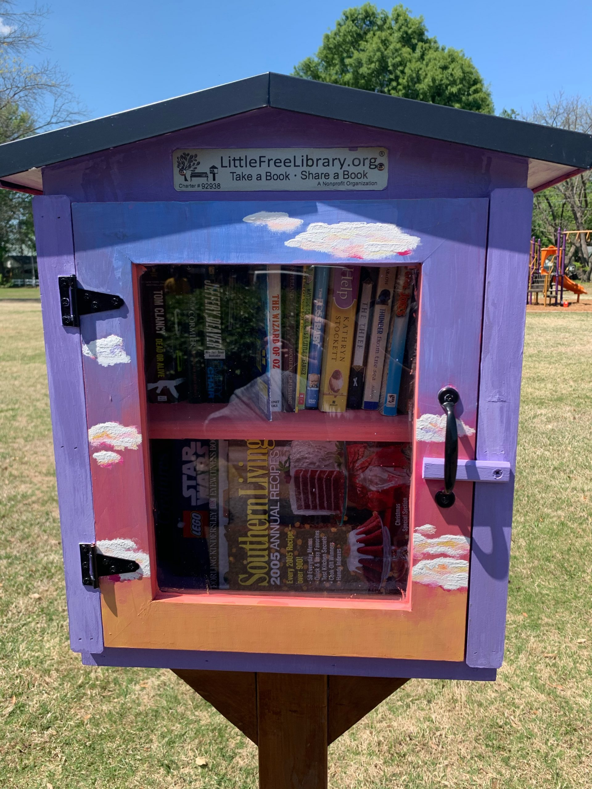 Little Free Public Library in City Park