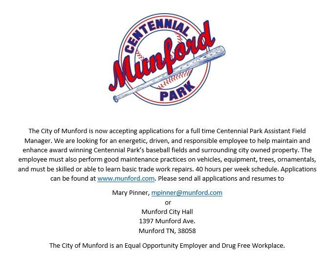 Centennial Park Assistant Field Manager