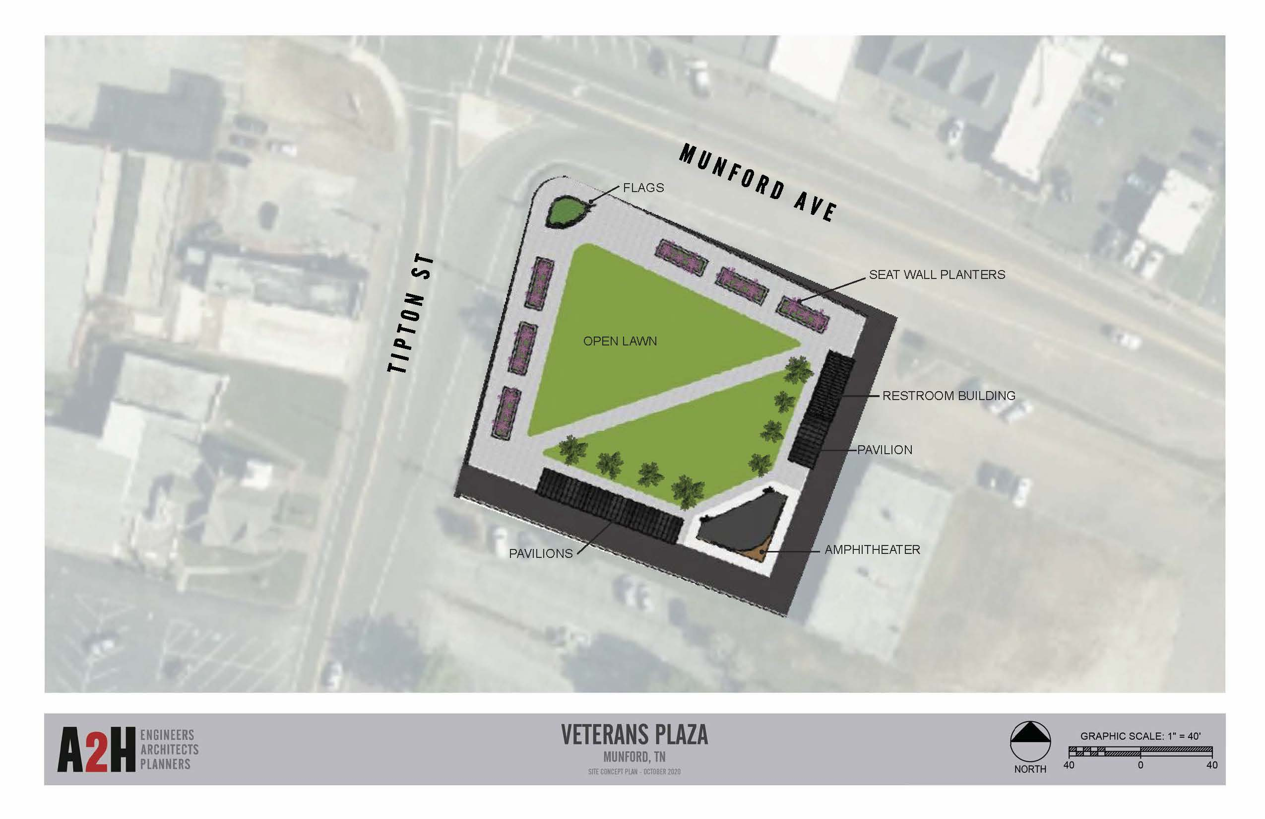 2020 Munford Veterans Plaza Amphitheater Development 5.5 Site Plan