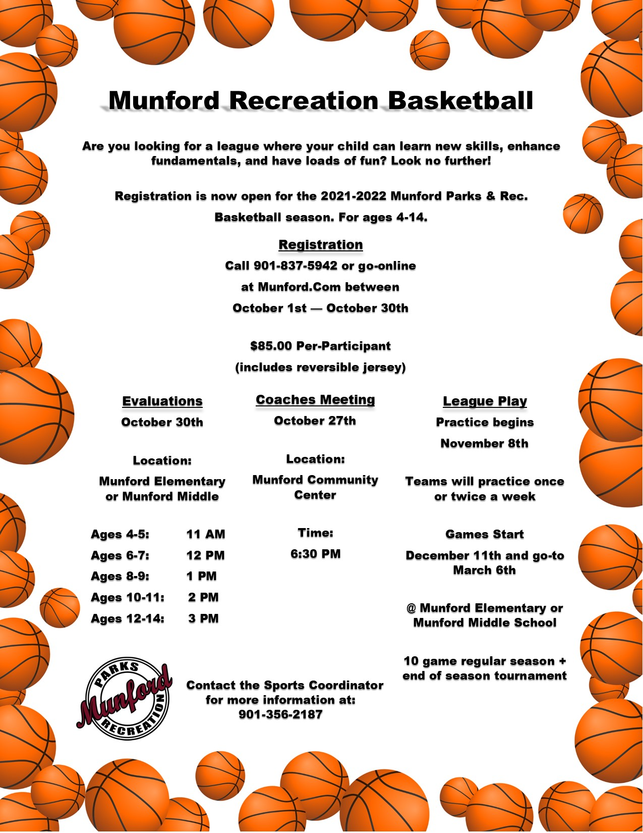 2021 Basketball registration
