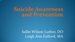 Suicide Prevention PowerPoint Image