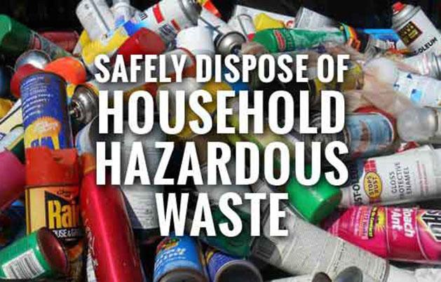 Annual Household Hazardous Waste Collection on Saturday