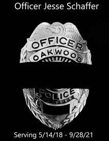 Mourning Band over Oakwood Badge