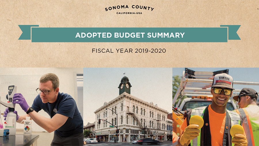 photo of the adopted budget summary cover