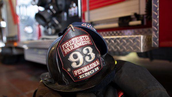photo of fire helmet