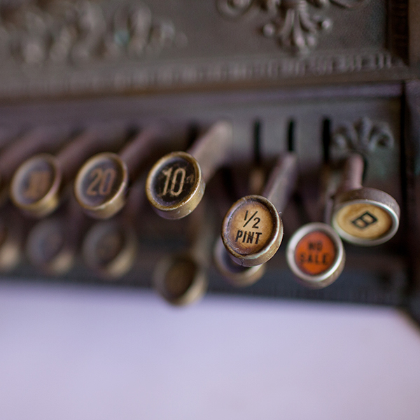photo of an antique register