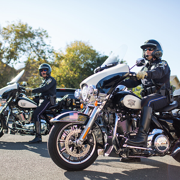 photo of officers on motorcycles