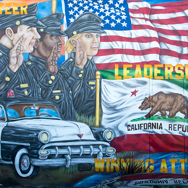 photo of the police mural