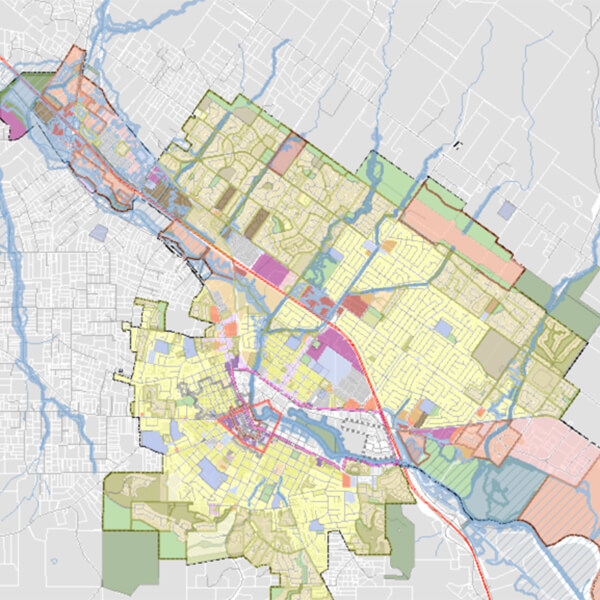 crop of zoning map