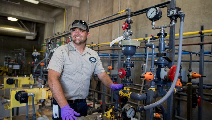 water utility worker