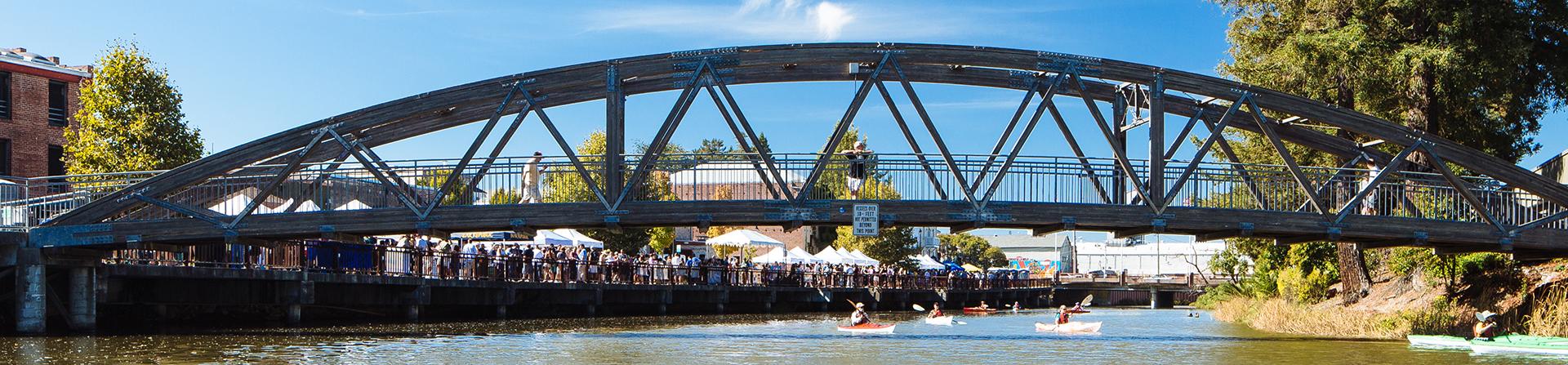 photo of bridge in Petaluma