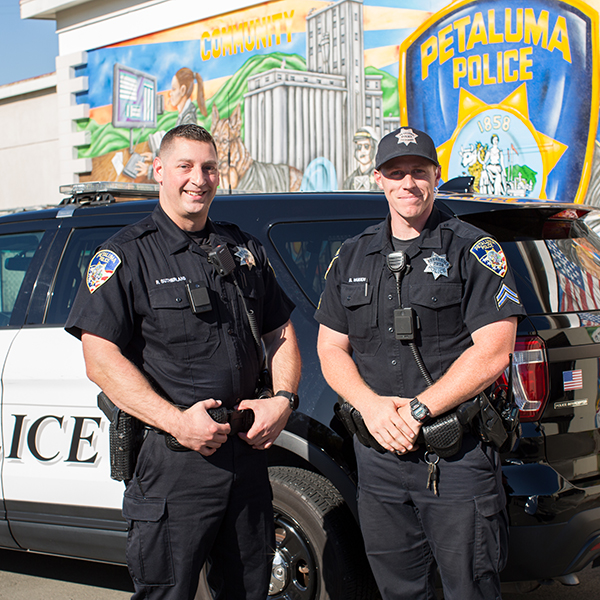 photo of two officers