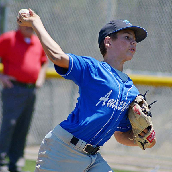 photo of a little league pitcher