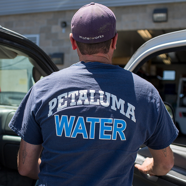 photo of employee with Petaluma Water shirt