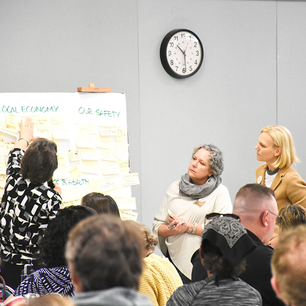 photo from workshop of community input