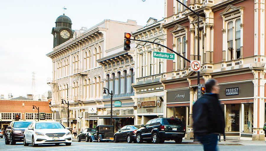 photo of downtown streetscape