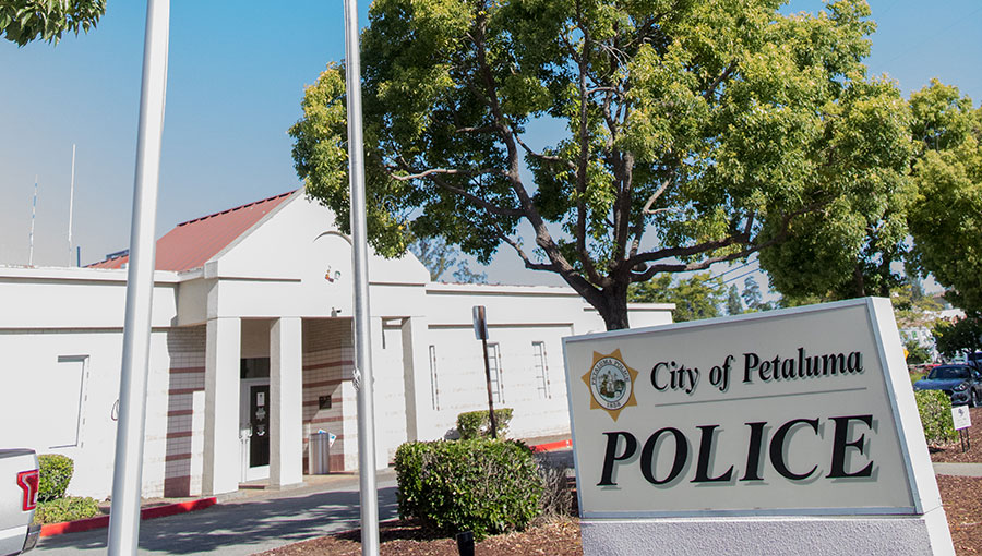 Photo of Petaluma police headquarters