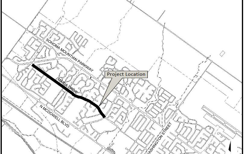map of pavement restoration