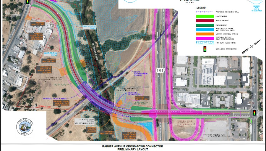 drawing of crosstown connector project