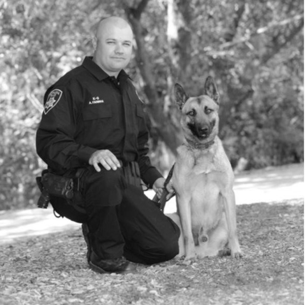 police officer with canine
