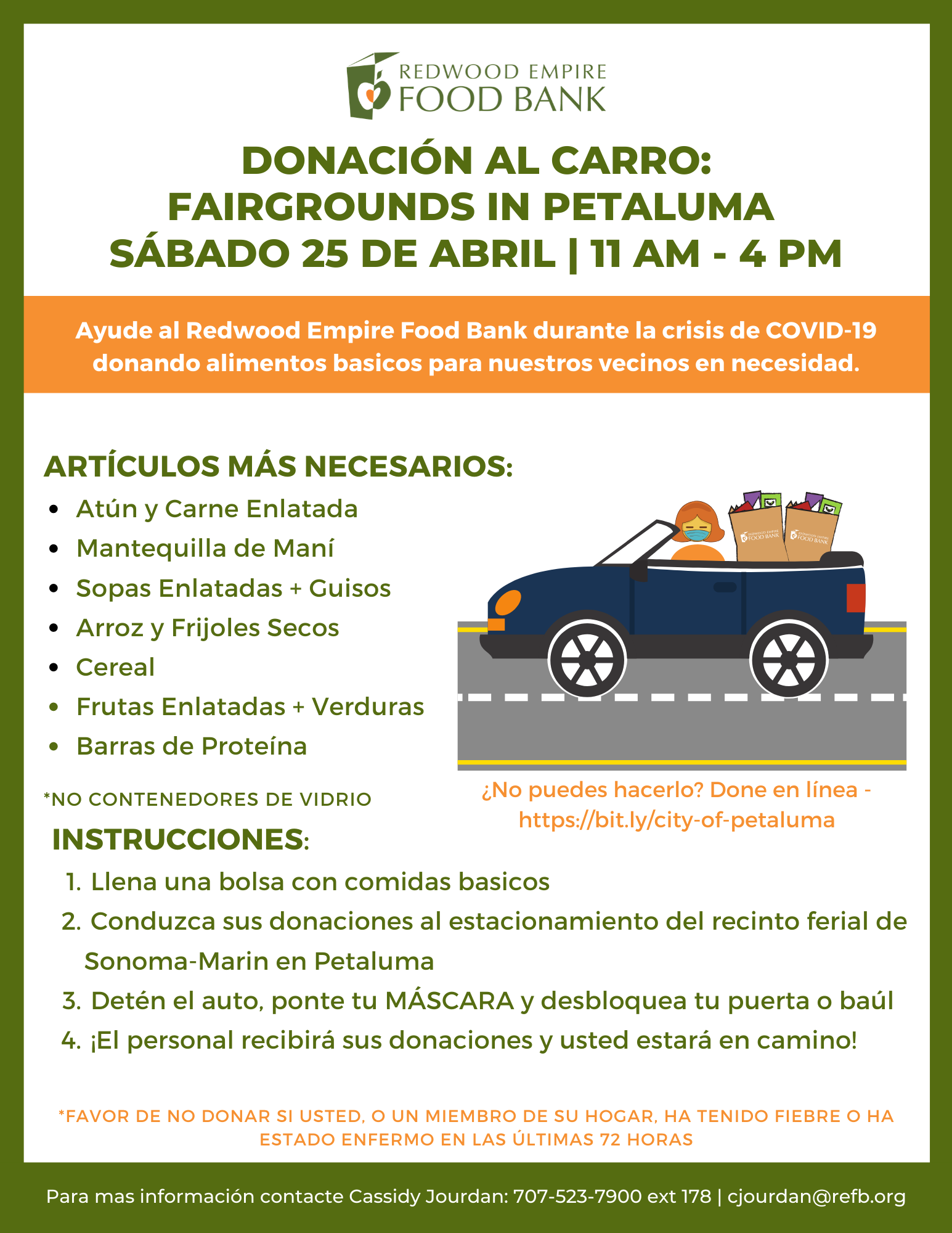 flyer for food drive spanish