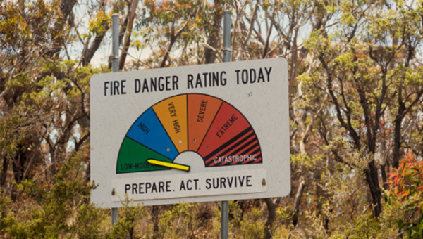 photo of fire danger meter