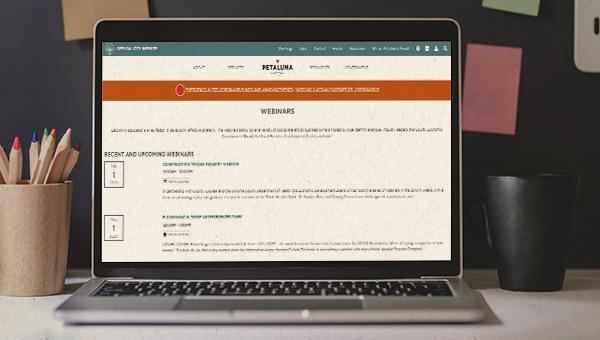 image of Webinars page
