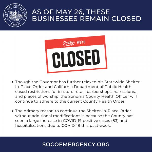 businesses still closed