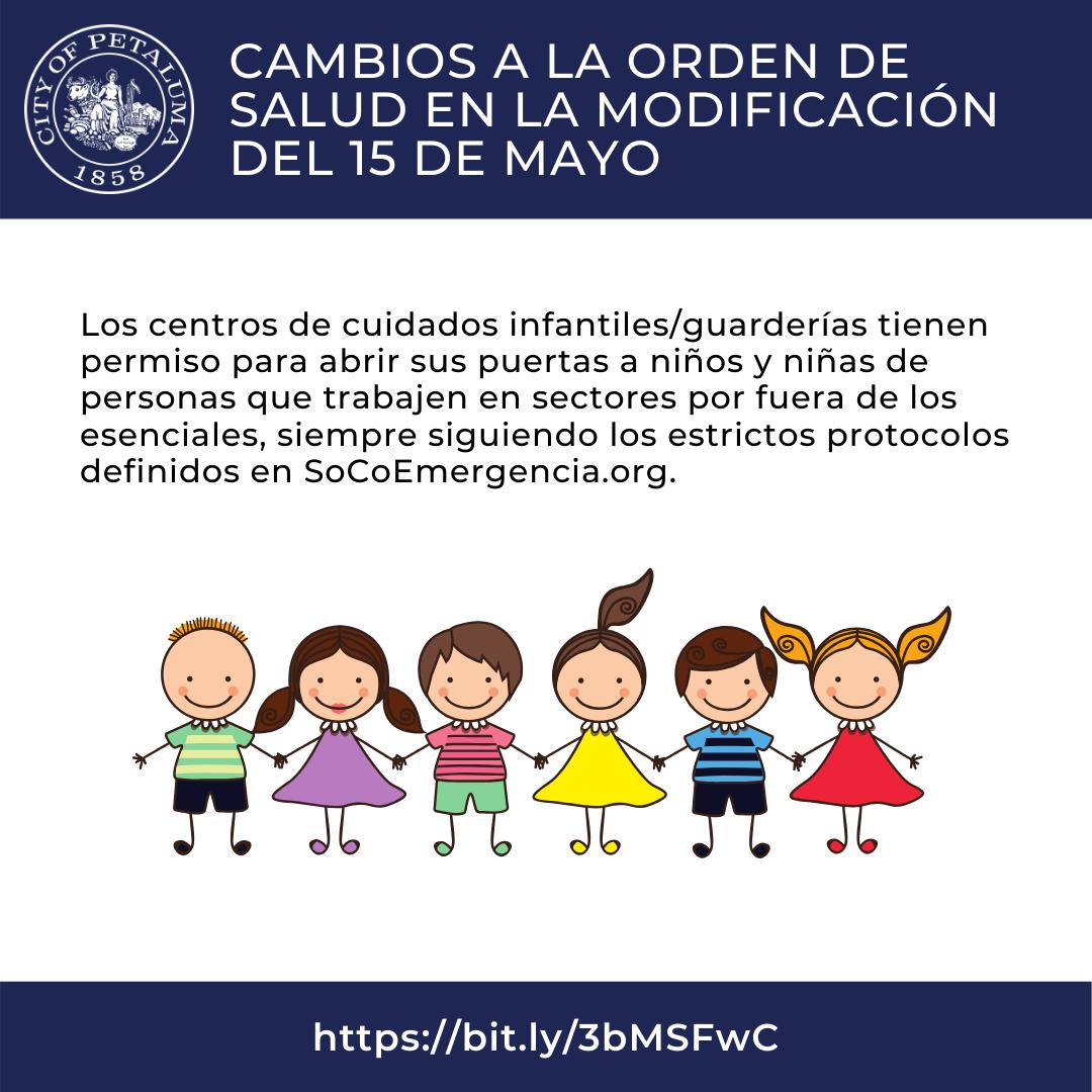 childcare open graphic in spanish