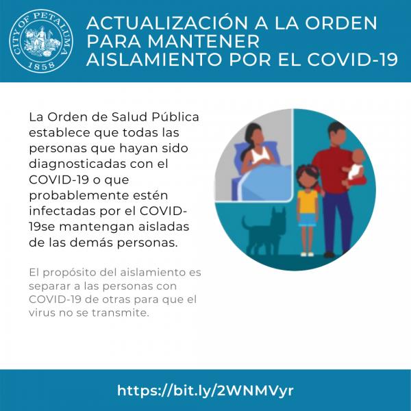 isolation order in spanish
