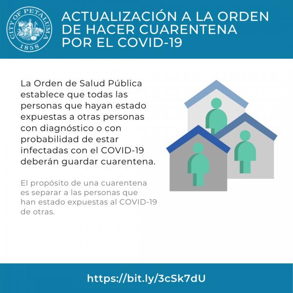 quarantine order in spanish