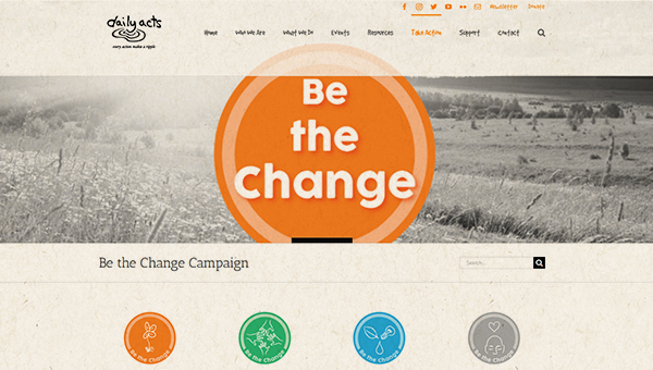 Daily Acts - Be the Change image