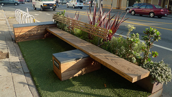 example of outdoor seating