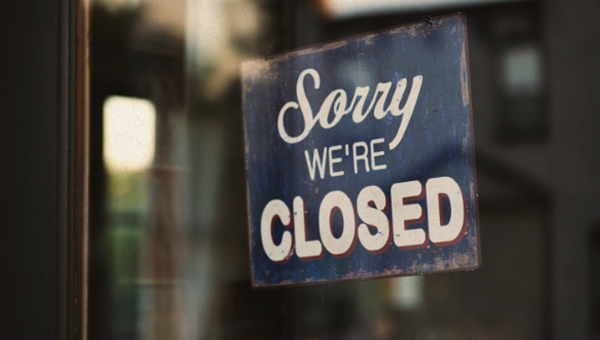 image showing sorry, we're closed
