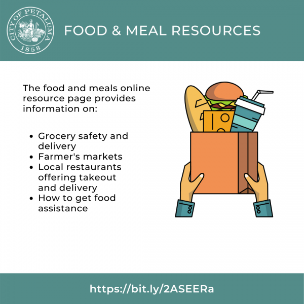 graphic for food and meals online resource page in english