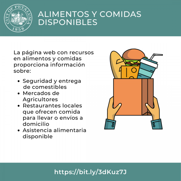 graphic for food and meals online resource page in spanish