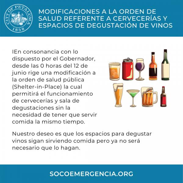 tasting rooms open - in spanish