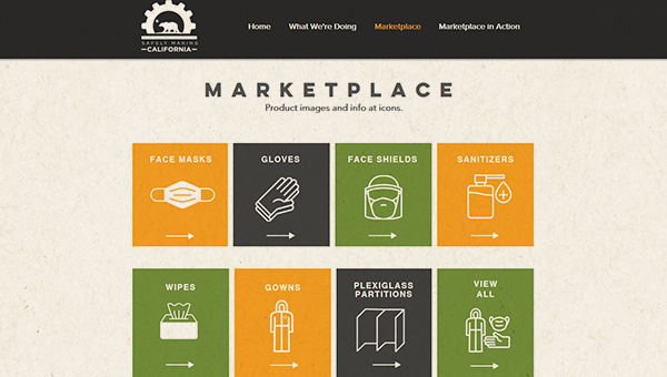 picture of ppe marketplace site