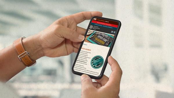 SoCo Launch on phone screen