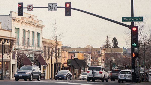 image of traffic in Petaluma