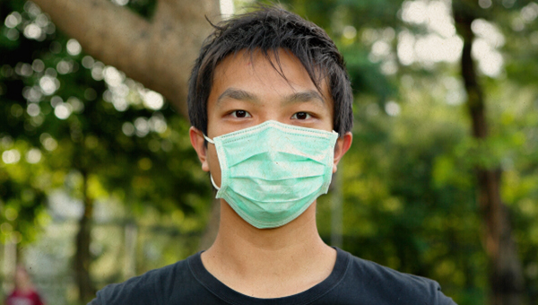 picture of person wearing a mask
