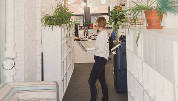 picture of young woman in workplace