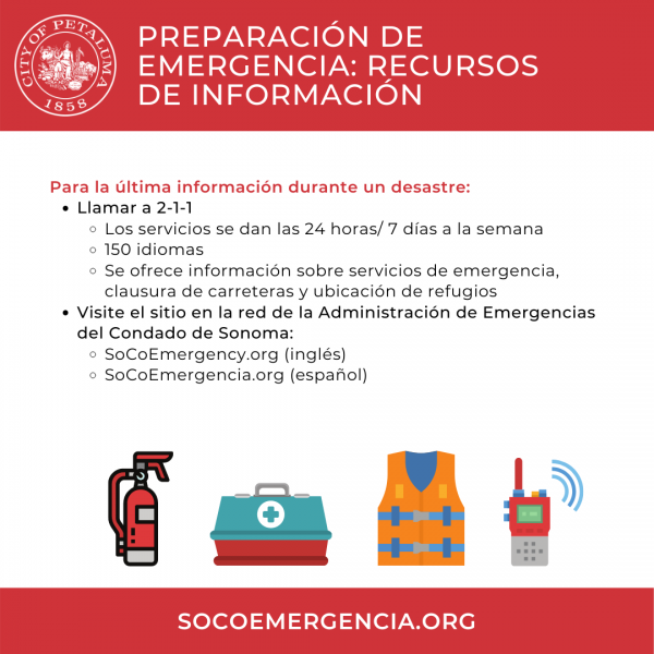 disaster resource information graphic in spanlish