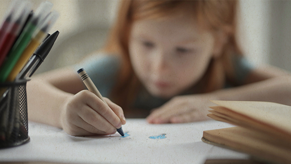 picture of child coloring