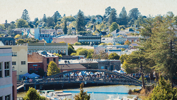 photo of petaluma with bridge