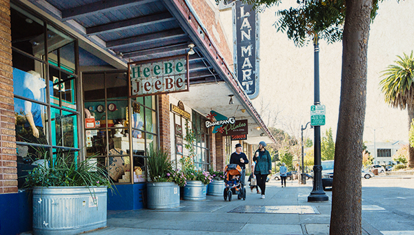 picture of shopping downtown