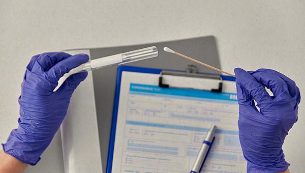 medical testing with swab