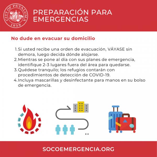 evacuate graphic in spanish