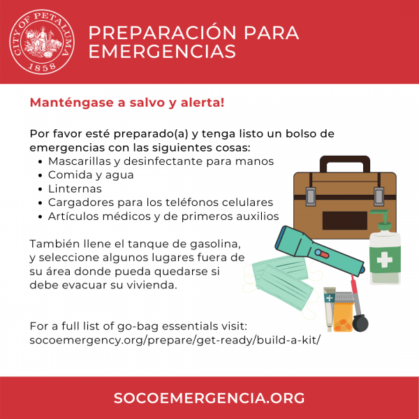 stay safe graphic in spanish